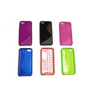 Plastic TPU Cell Phone Protective Cases In Red For iPhone 5c Manufactures