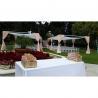 draper pipes wedding decoration aluminum adjustable wedding tent aluminum telescopic pipe royal wedding decor Manufactures