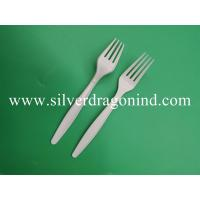 Quality Corn starch fork with 15cm length in white color for sale