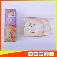 Food Grade LDPE Double Zipper Plastic Zip Lock Bags For Food , Eco Friendly Sandwich Bags Manufactures