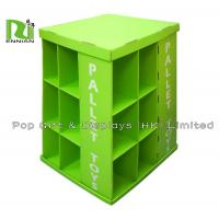 Fashion Design Full Sides Clothes / Cloth Cardboard Pallet Display , Green Manufactures