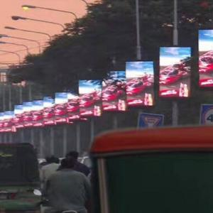 Outdoor Light Pole SMD1921 P4 LED Advertising Billboard Manufactures