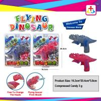 Flying dinosaur with toy candy , compress candy or jelly beans Manufactures