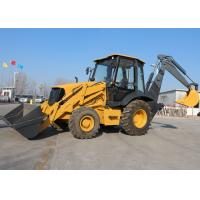China Compact Tractor Loader Backhoe , Front End Loader Backhoe With Cummins Engine on sale