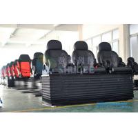 Theme park 4D / 5D Cinema theater seating furniture , Luxury real leather motion chairs Manufactures
