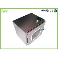 China Clean Room Pass Through Box Jointless Structure Inside With Germicidal Lamp on sale