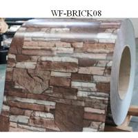 Durable PPGI Prepainted Steel Coil With Brick Patterned For Wall Panel Manufactures