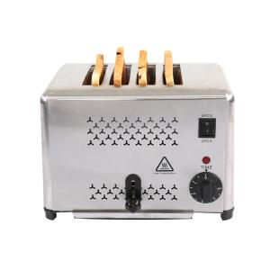 Stainless Steel 4 Slice 1800w Bread Toaster Machine Manufactures