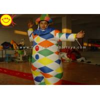 Nylon Multicolor Inflatable Clown Costume With Hat Suitable For 1.8 Meters Man Manufactures