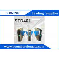600MM Width Smart Flap Turnstile / RFID Card Swing Barrier For Shopping Mall Manufactures