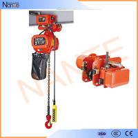 1 Ton Pneumatic Electric Chain Hoist For Overhead Crane ISO / CE / CCC Manufactures