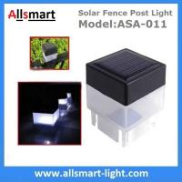 2''x 2'' Inch Square Solar Post Cap Light For Wrought Iron Fencing Front Yard and Backyards Gate Landscaping Residential Manufactures