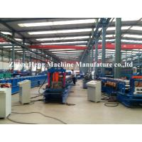 Quality 3mm Thickness steel C purlin roll Forming Machine for 80mm-300mm width , hydraulic cutting for sale