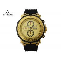 Quartz Machine Core Silicone Strap Watch With 3 Dial Goid Face Shatter Resistant Manufactures