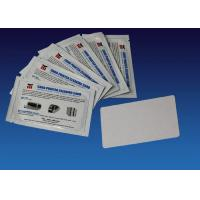 Quality Regular Cleaning Card Kit Zebra Printer Cleaning Kit 104531 001 White Color 54mm * 86mm for sale