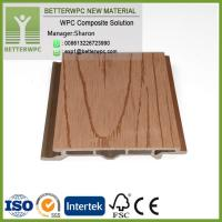 China Hot Sales China Manufacturer Wall Panel Wood Plastic Composite Cladding WPC External Wall Cladding on sale