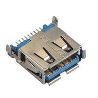 Computer Pin Connectors Right Angle SMT blue color  Sink Style 3.5mm LCP UL94V-0 Manufactures