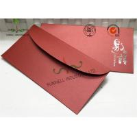 Recyclable Custom Printed Envelopes For Invitation Letter Card Foil Stamp Finished