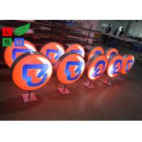 Diameter 500mm LED Light Box Display , Outdoor Light Box With Printed Vinyl Stickers Manufactures