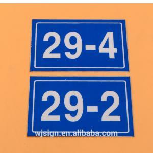 Convenient Roadside Vintage Metal Signs Engraved Room Number Door Plate Manufactures