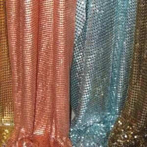 Metal Cloth, Made of Aluminum Alloy, Handbag Decoration, Table Cloth, Metal Curtain, Salon Draperies Manufactures