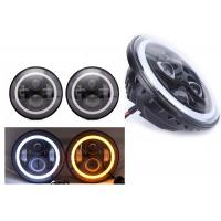 "70W 7"" Angel Eye Jeep LED Headlights High / Low H4 Or H13 Jeep Jk Halo Headlights Manufactures"
