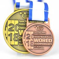 China Double Sides Copper Plating Custom Printed Medals Tailored Personalized Design on sale