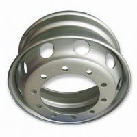 Tubeless Rims, Measures 22.5-inch in Diameter, with 10pcs Bolt Holes, Steel Wheels for Truck Manufactures