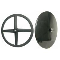 Matte / Glossy Carbon Rear Disc Wheel , Road Disc Wheelset 4 Spoke Manufactures