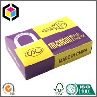 Glossy CMYK Color Print Cardboard Carton Pad Lock Paper Packaging Box Manufactures