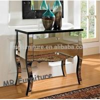 Modern Mirrored Night Stands Venetian Style Beveled Edge Long Life Span Manufactures