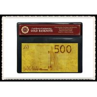 China €500 European 24k Engrave Gold Banknote GOLD 999999 Plated With PVC Base on sale