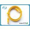 RJ45 CAT6 Flat Jumper Cable Copper 2M For PC Mac Laptop / Modem / Router / PC Manufactures