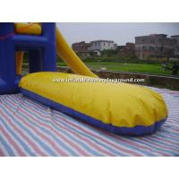 Quality Outdoor Large Inflatable Water Toys With Climb , Slide And Launch Bag for sale
