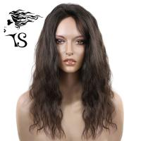 Black 100% Virgin Hair Lace Front Wigs , Light Wavy Lace Front Wigs Human Hair Manufactures