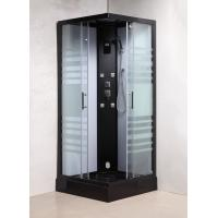 Quality Matt Black Profiles Sliding Glass Door Shower Enclosure Kits For Star-Rated Hotels for sale