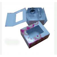Quality 8.6 * 7 * 2.8 Inch Coated Paper Folding Gift Boxes With Pet Window For Package for sale