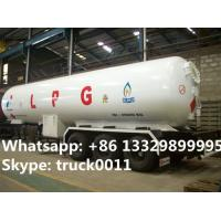 hot sale ASME standard 49600L 3 axles lpg gas trailer for sale, 49.6cbm lpg gas propane tank semitrailer for sale Manufactures