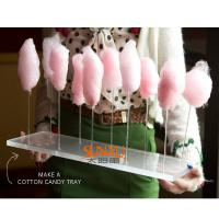 Thick Acrylic Countertop Food Display Transparent For Pretty Cotton Candy Manufactures