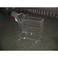 Color Powder Coating canadian style Supermarket Shopping Carts Manufactures