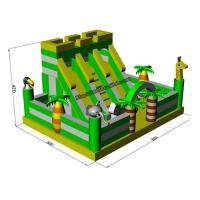 PVC Animal Inflatable Bouncy Castle Bed , Blow Up Kids Water Slide