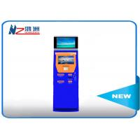 Quality 17 inch automatic free standing kiosk touch queuing Customized Color for sale