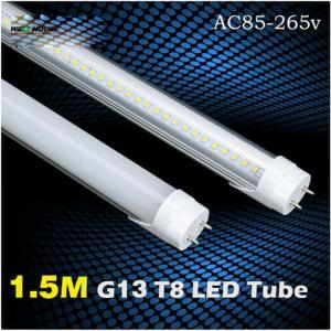 High Brightness 1.5 Meter T8 LED tube Light 5FT 1.5m 3000K 4000K 5000K 5500K 6000K 6500K 7000K 100v 110v 220v 240v Manufactures