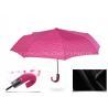 Beautiful Pink 3 Fold Automatic Umbrella , Large Elbow Curved Handle Umbrella Manufactures
