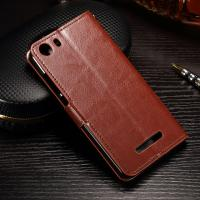 PU Leather Wiko Lenny 2 Flip Cover , Anti - Slip Leather Phone Wallet OEM Manufactures
