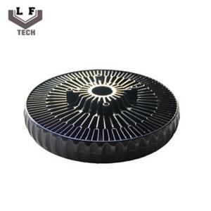 ADC12 Powder Coating Aluminium Die Castings Sun Flower Aluminum CPU Heat Sink Manufactures