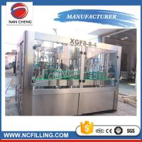 China 3 In 1 Automatic Water Bottle Filling Machine , Water Bottling Equipment Beverage Packaging on sale