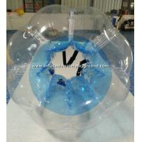 Quality Blue Transparent Inflatable Bubble Soccer Ball For Football Body Bumper for sale