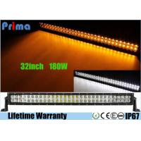 32 inch Led Truck Light Bar Wireless Remote Control 180W Super Cool Yellow White Manufactures