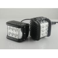 "45W 4.5"" Square Vehicle LED Work Lights 3800 Lumen , Black Housing Colors Manufactures"